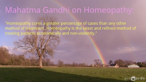Mahatma Gandhi about Homeopathy