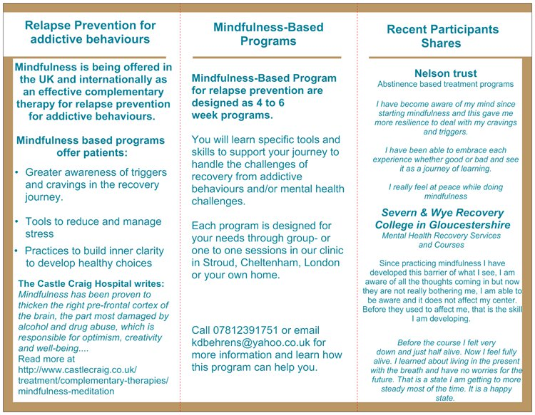 Mindfulness-Based Recovery Programs – Homeopathy realcurehomeopathy ...